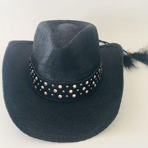 Black Ladies Cowboy Hat